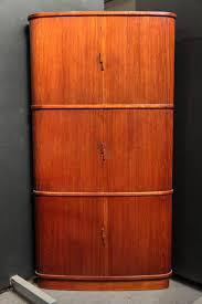 3 tiered teak tambour door corner cabinet tambour corner