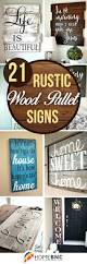 wall decor 21 wood signs to add rustic glam to your decor modern