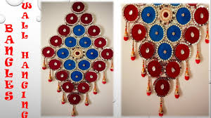 Designs Of Wall Hanging With C D How To Make Wall Hanging From Old Bangles And Cloth Best Out Of