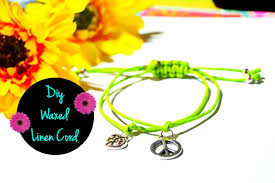 cord bracelet with charm images Easy diy waxed linen cord charm bracelet jpg