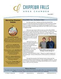 Spectrum Industries Chippewa Falls by Chippewa Chamber Newsletter June 2017 By Go Chippewa Falls Issuu