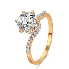 engagement rings for couples 2018 cacana promise engagement rings for couples men women gold