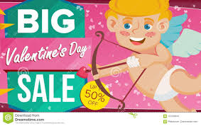 s day clearance s day sale banner vector happy cupid design for web