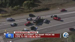 two dead in accident on nb i 275 ramp to i 96 in novi youtube