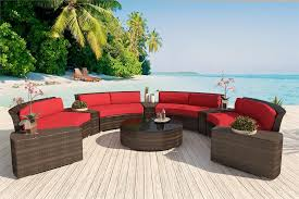 Wicker Sectional Patio Furniture by Alexandra Patio Furniture Round Outdoor Wicker Sectional Sofa