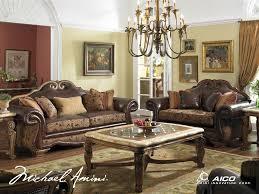 Michael Amini Living Room Furniture Michael Amini Tuscano Leather Fabric High Back Sofa Missouri