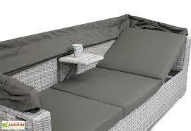 canapé résine tressée canapé en résine tressée avec auvent 222x80x65cm dcb garden