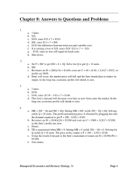 managerial economics michael baye chapter 8 answers demand