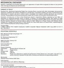 Resume Mechanical Engineer Sample by Stunning Mechanical Site Engineer Sample Resume Interesting
