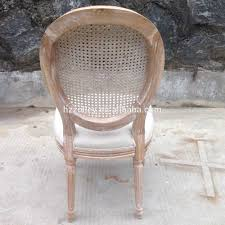 round back dining chair cane back side chair french wooden dining