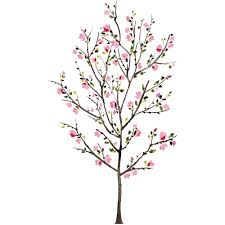 pink blossom tree peel and stick wall decals walmart com