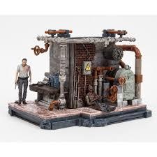 mcfarlane toys the walking dead prison boiler room construction