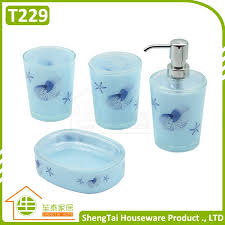 Shell Bathroom Accessories by China Bathroom Set Plastic China Bathroom Set Plastic
