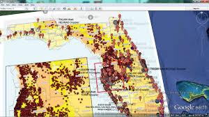 Florida Map Usa Five Sinkholes Of Newgoz Sinkholes And Karst Terrain Regions In