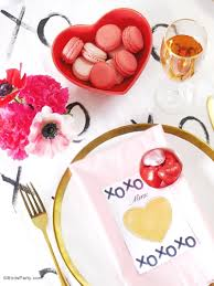 Valentine S Day Table Decorations by A Modern Valentine U0027s Day Dinner Party Party Ideas Party Printables
