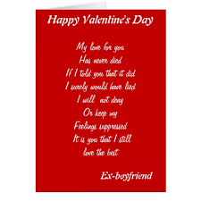 valentines day cards for him ex boyfriend s day cards zazzle co uk