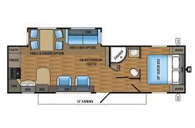 5th Wheel Camper Floor Plans Rear Kitchen Rv Floor Plan Extraordinary Kz Durango D315rkd Fifth