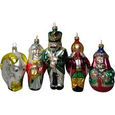 7 hand crafted european glass christmas ornaments from carolines