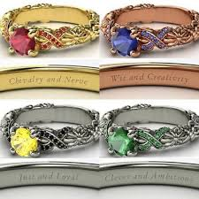 harry potter inspired engagement ring all four rings slytherin is still the best how it has