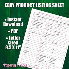Ebay Spreadsheet Ebay Products Listing Sheet 2 Versions Evernote U0026 Dropbox Ebay