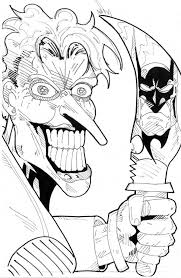 Scary Joker With Knife Coloring Page Netart Coloring Pages Joker