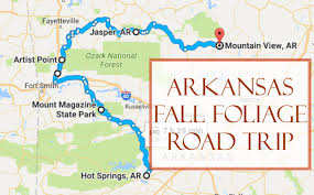 arkansa road map take this fall foliage road trip to see arkansas like never before