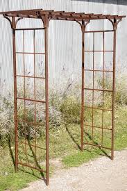 wrought iron mission flower u0026 vine arbor structure