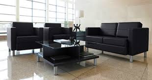 Square Glass Top Coffee Table Office Furniture Sale - Office lounge furniture