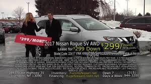 nissan rogue sport lease fuccillo nissan march 2017 rogue sv premium for 299 a month lease