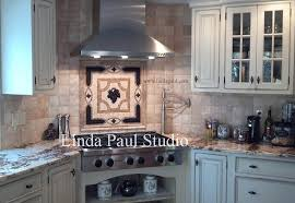 Mediterranean Tiles Kitchen - grapes mosaic tile medallion kitchen backsplash mural mosaics