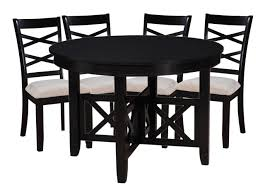 Standard Furniture Epiphany Round Table And 4 Chairs Set In Black