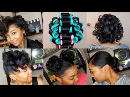 roller set relaxed hair how to roller set hair roller setting tutorial 2017 relaxed