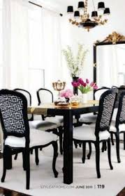 Black And White Striped Dining Chair White Fabric Dining Chairs Foter