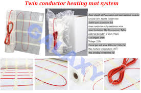 heating cable on fiberglass mat easy install underfloor electric