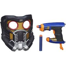 marvel guardians of the galaxy star lord battle mask and blaster