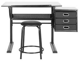 Drafting Table And Chair Set Safavieh Harvard Drafting Table And Chair Set Reviews Wayfair