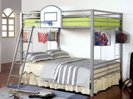 American Woodcrafters Loft Bed Athlete Full Over Full Bunk Bed W Basketball Hoop Kids Loft And