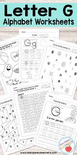 Learning To Write Abc Worksheets Letter G Worksheets Alphabet Series Easy Peasy Learners