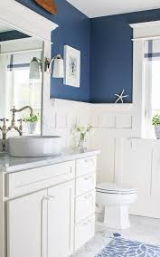 white and blue bathroom navy blue and white bathroom saw nail and paint