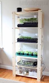 Kitchen Grow Lights Grow Light Shelving For Seed Starting Indoors Seed Starting