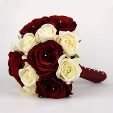 burgundy roses of burgundy and ivory roses