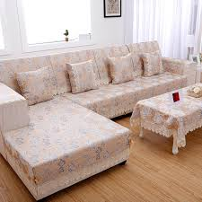 rehousser un canapé canapé housse jacquard canapé d angle couvercle ensemble accoudoir