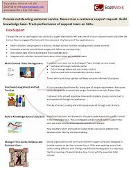 free help desk solutions eazesupport helpdesk and sla management product flyer