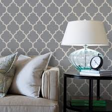 Moroccan Wall Decal by Moroccan Wallpaper Cool Dark Grey Peel And Stick