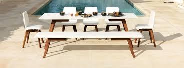 viteo slim garden dining furniture luxury minimalist outdoor