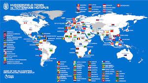 Tv Reception Map Watch Town Vs Spurs Around The World News Huddersfield Town