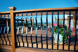 wrought iron balusters durable ductile more available deck