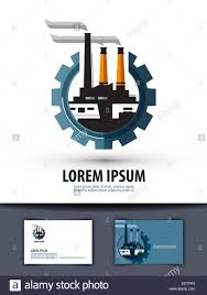 factory industry logo icon sign emblem template business