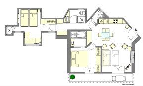 Golden Girls Floor Plan by Find 2 Bedroom Accommodation Paris France Near The Seine Paris