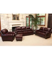 living room sets annabelle 4 piece leather set